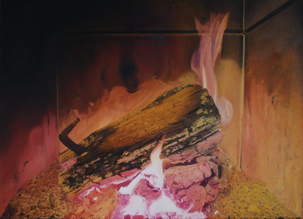 'Feuer II' 2017, oil on canvas 50 x 70 cm