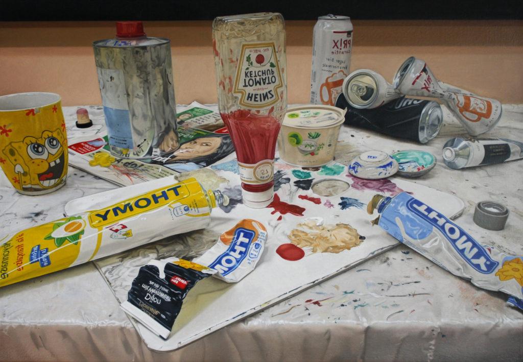 'Crème Fraîche' 2017, oil on canvas, 32 x 46 cm