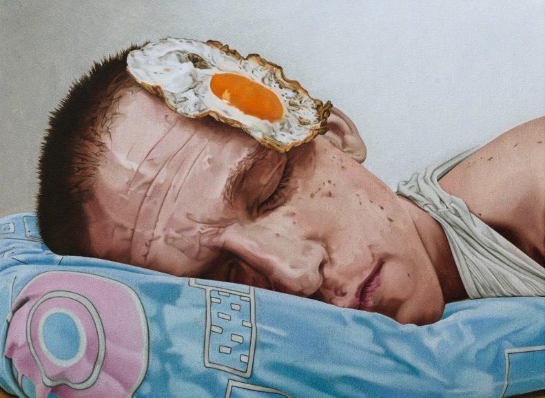 'Bad Egg' 2017, oil on canvas, 30 x 40 cm