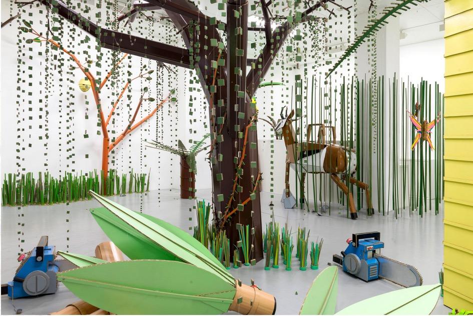 Installation views 'El Tschuggo Forest / El Huber Ciudad' 2017