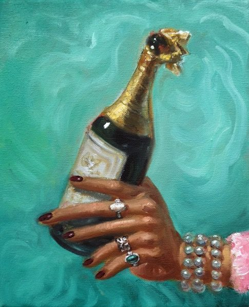'Champagne' 2016, oil on canvas, 27 x 22 cm