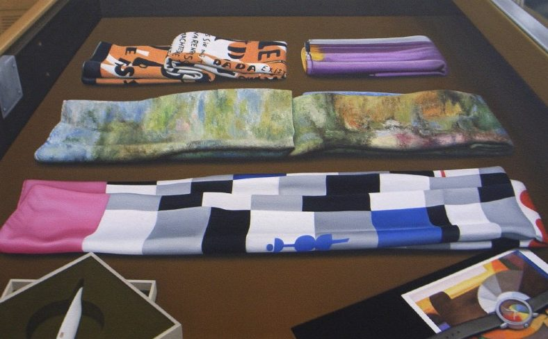'Still Life at the Art Shop' 2008, oil on canvas, 33 x 53 cm