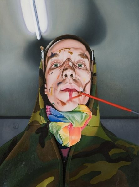 'Portrait of the Painter' 2009, oil on canvas, 68 x 51 cm