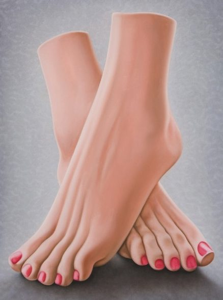 'Toy Feet' 2009, oil on canvas, 38 x 28 cm
