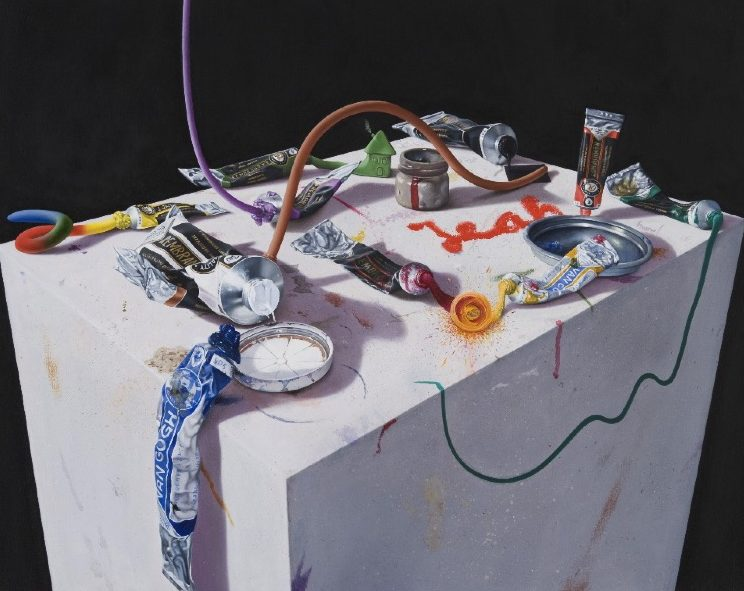 'Still-Life with Crazy-Going Paint' 2009, oil on canvas, 51 x 64 cm