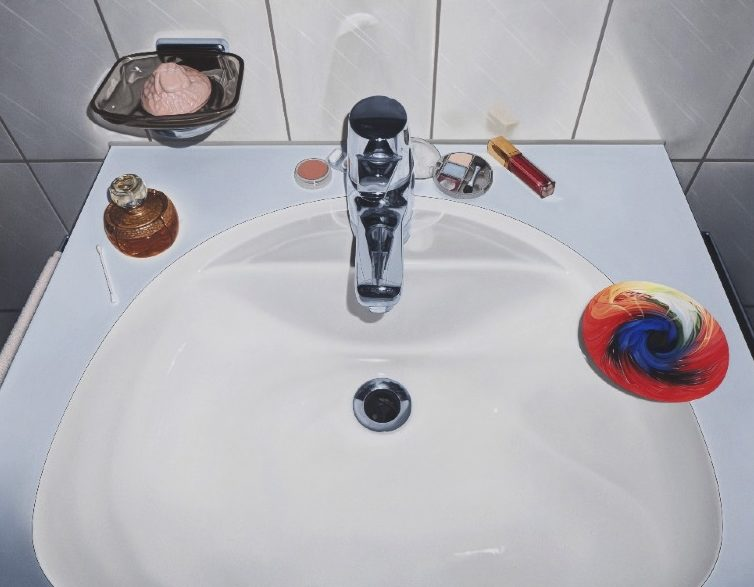 'Lavabo' 2010, oil on canvas, 90 x 115 cm