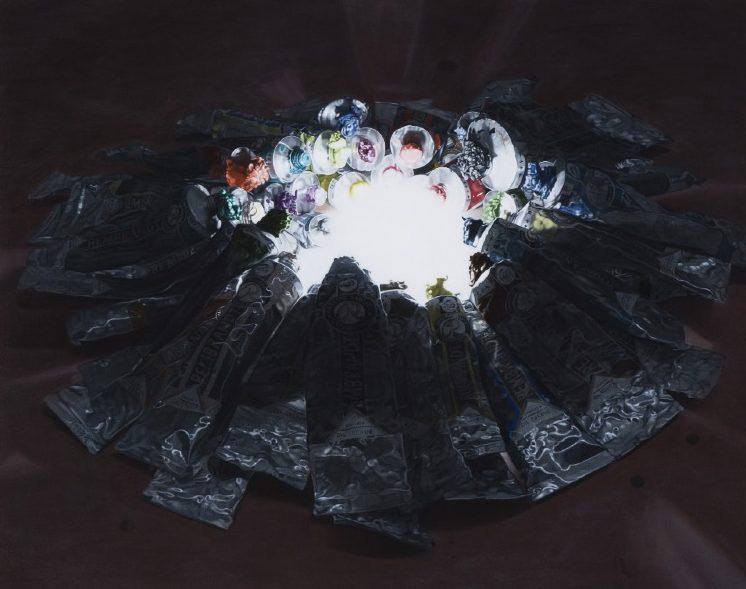 'Farben am Licht' 2011, oil on canvas, 62 x 78 cm