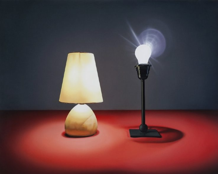 'Zwei Lampen' 2011, oil on canvas, 100 x 125 cm