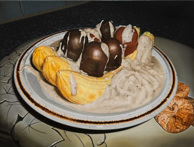 'Dessert' 2014, oil on canvas, 30 x 40 cm