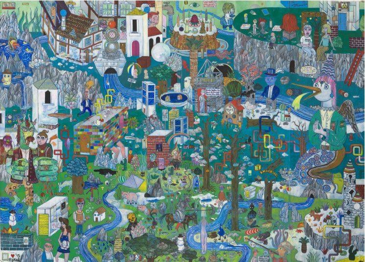 'Die Hochebene von Tandoor', 2015, oil on cardboard, 100,5 x 72,5 cm