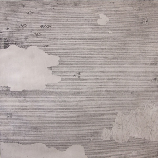 'Das Talus-Gebirge (Welt b)' 2015, Etching, 69 x 69  cm