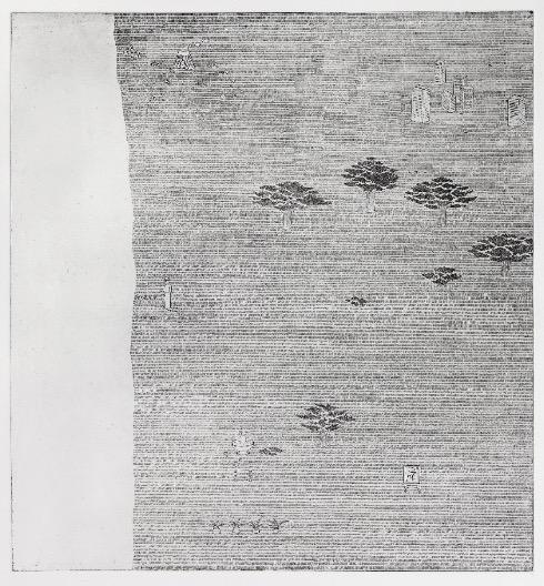 'Die Karte der Welt b/2' 2012, Etching, 50 x 55 cm