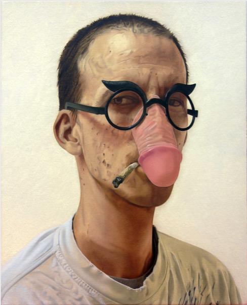 'Selbstportrait mit 36 Jahren' 2020, Oil on canvas, 30 x 24 cm