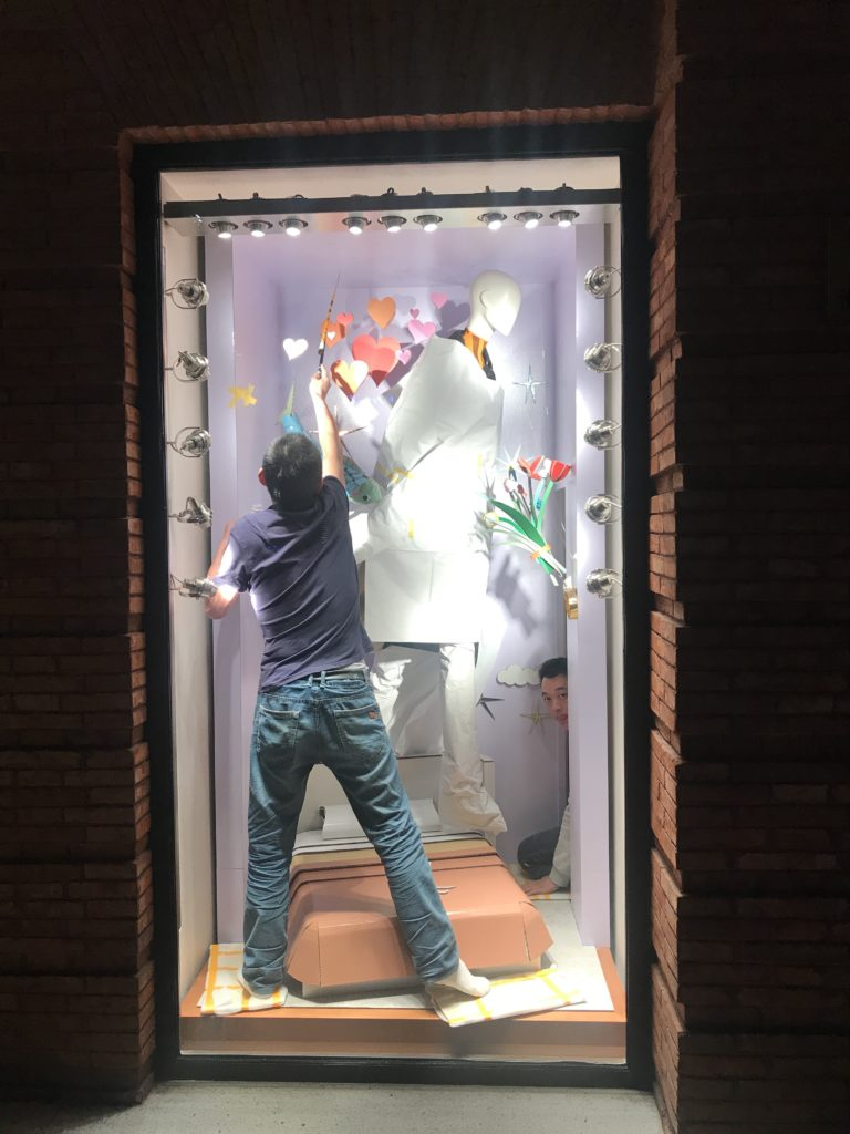 Making of Hermès Winter Windows 2019 by Patrick Graf