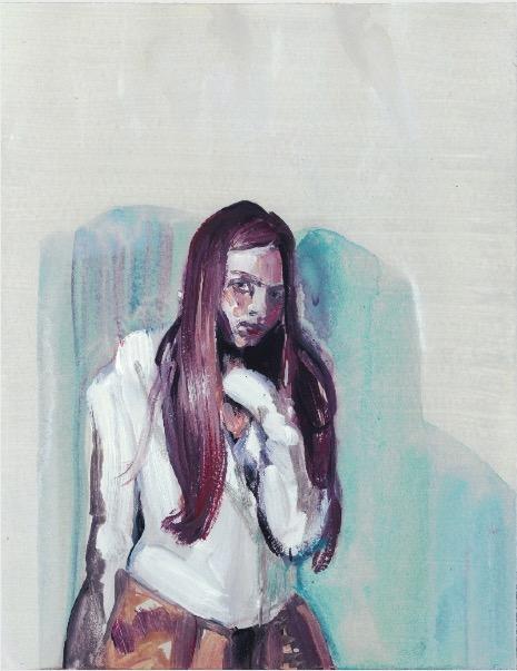 ELISABETH LLACH 'Ne t'inquiète pas #63', 2007, Acrylic on paper 24x19cm