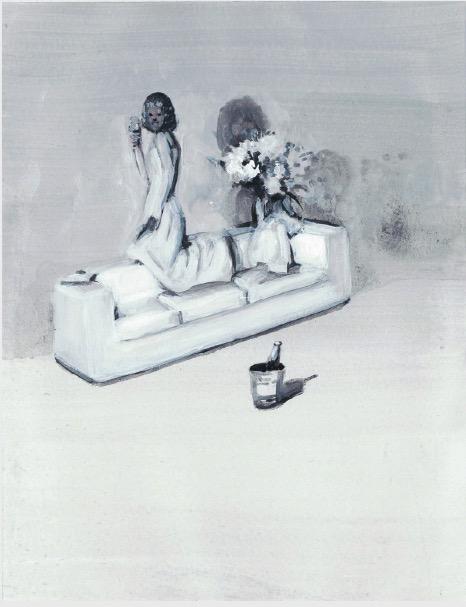 'Ne t'inquiète pas #95', 2007, Acrylic on paper 24x19cm