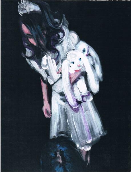 ELISABETH LLACH 'Ne t'inquiète pas #33', 2007, Acrylic on paper 24x19cm