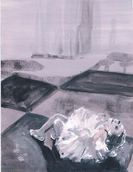 'Ne t'inquiète pas #97', 2007, Acrylic on paper 24x19cm