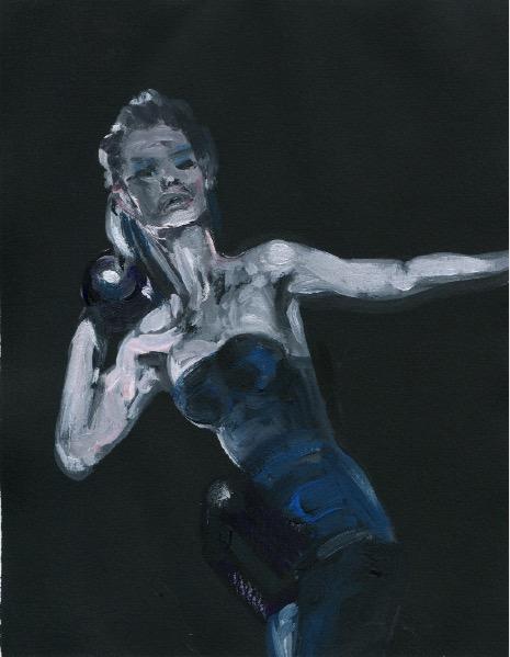 'Ne t'inquiète pas #192', 2007, Acrylic on paper 24x19cm