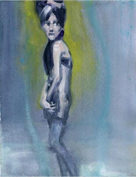 'Ne t'inquiète pas #67', 2007, Acrylic on paper 24x19cm