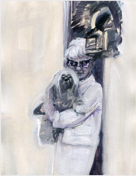 ELISABETH LLACH 'Ne t'inquiète pas #94', 2007, Acrylic on paper 24x19cm