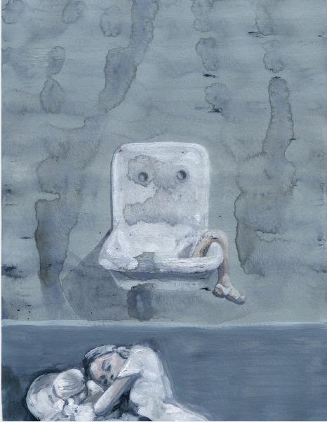 ELISABETH LLACH'Ne t'inquiète pas #111', 2007, Acrylic on paper 24x19cm