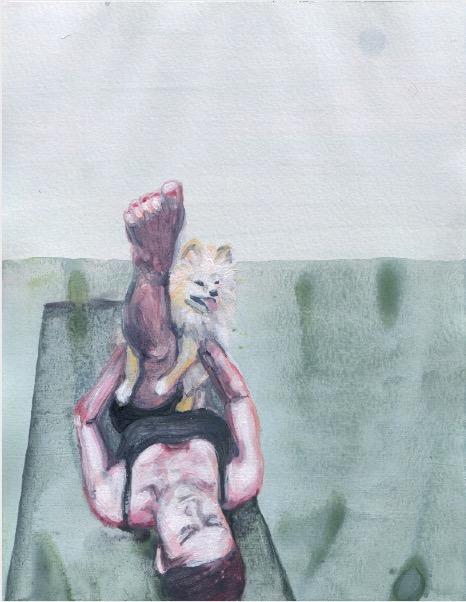 ELISABETH LLACH 'Ne t'inquiète pas #148', 2007, Acrylic on paper 24x19cm