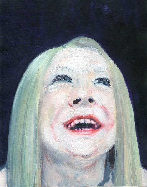 'Ne t'inquiète pas #12', 2007, Acrylic on paper 24x19cm