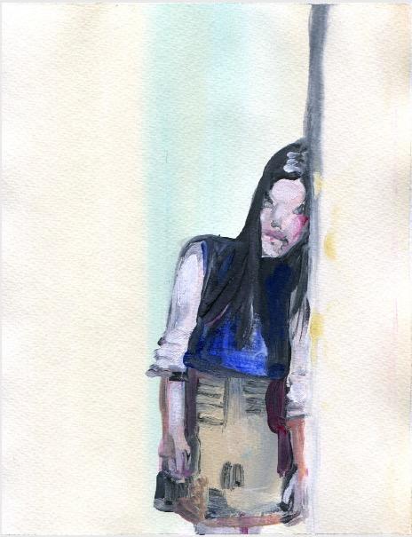 'Ne t'inquiète pas #69', 2007, Acrylic on paper 24x19cm