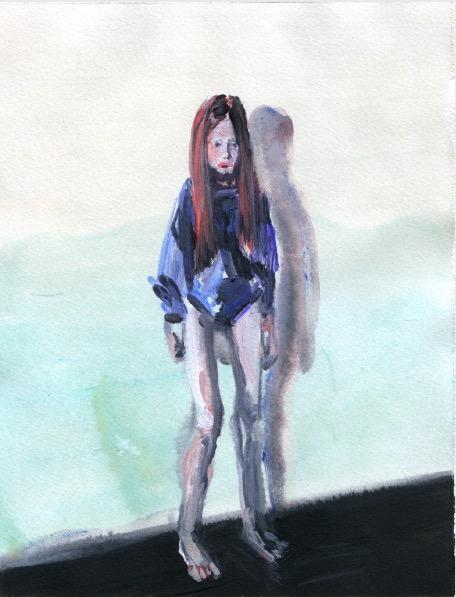 ELISABETH LLACH 'Ne t'inquiète pas #71', 2007, Acrylic on paper 24x19cm