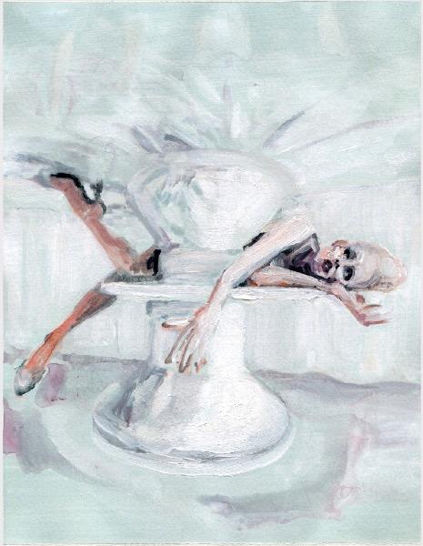 ELISABETH LLACH 'Ne t'inquiète pas #99', 2007, Acrylic on paper 24x19cm