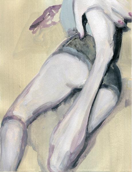 'Ne t'inquiète pas #163', 2007, Acrylic on paper 24x19cm