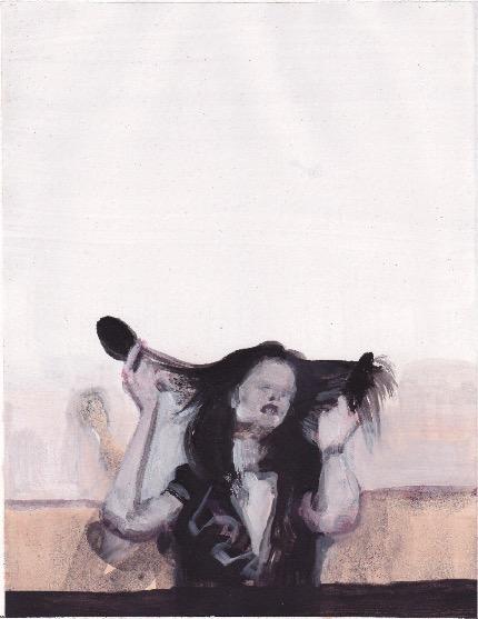 ELISABETH LLACH 'Ne t'inquiète pas #179', 2007, Acrylic on paper 24x19cm