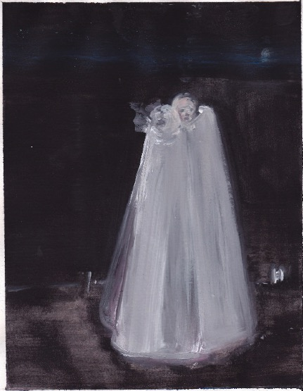 'Ne t'inquiète pas #215', 2007, Acrylic on paper 24x19cm