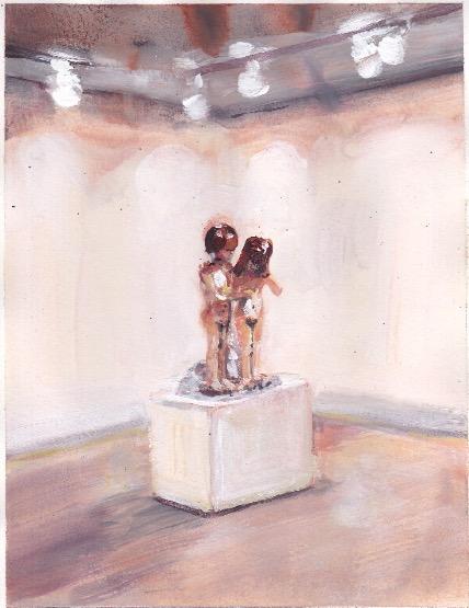 'Ne t'inquiète pas #224', 2007, Acrylic on paper 24x19cm