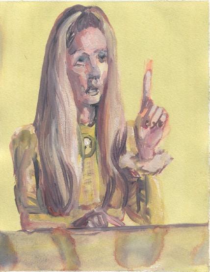 'Ne t'inquiète pas #114', 2007, Acrylic on paper 24x19cm