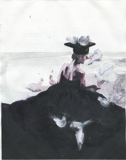 ELISABETH LLACH 'Ne t'inquiète pas #151', 2007, Acrylic on paper 24x19cm