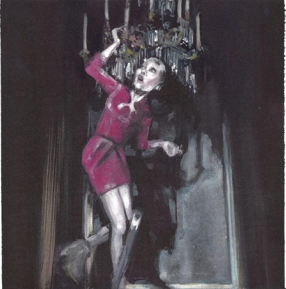 'Marios Schwab', 2010, Acrylic on paper 25x25cm