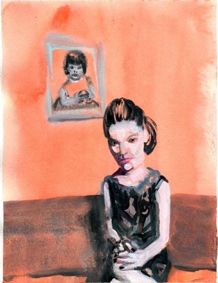 ELISABETH LLACH 'Ne t'inquiète pas #53', 2007, Acrylic on paper 24x19cm