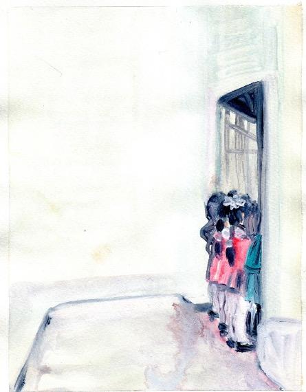 'Ne t'inquiète pas #116', 2007, Acrylic on paper 24x19cm