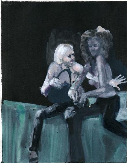 ELISABETH LLACH 'Ne t'inquiète pas #191', 2007, Acrylic on paper 24x19cm