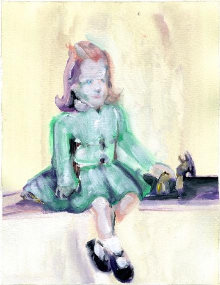 'Ne t'inquiète pas #198', 2007, Acrylic on paper 24x19cm