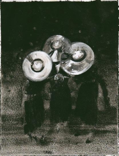 'Ne t'inquiète pas #250', 2007, Acrylic on paper 24x19cm