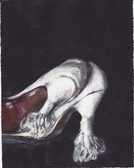 'Ne t'inquiète pas #157', 2007, Acrylic on paper 24x19cm