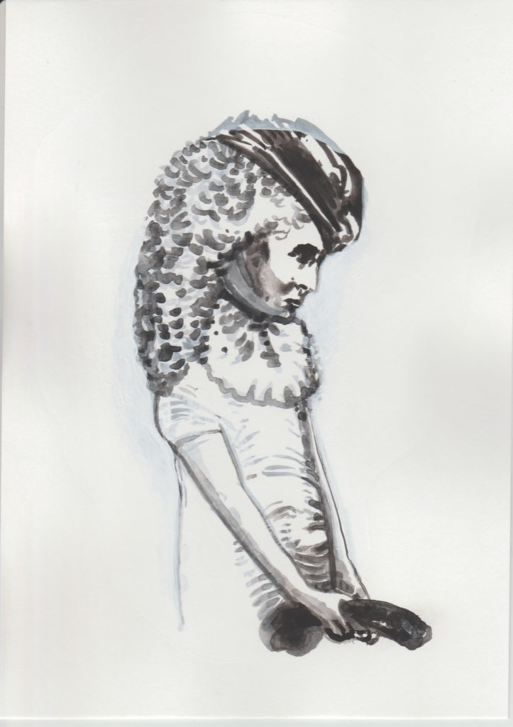 ELISABETH LLACH 'Doudou', 2020 Acrylic on paper 21x15cm