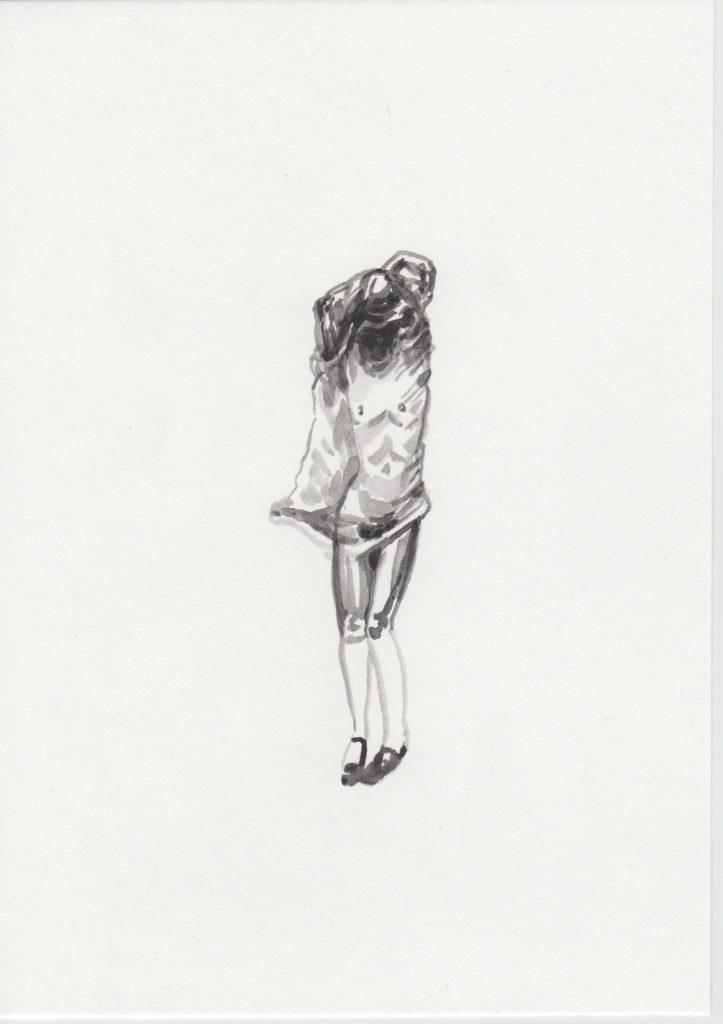 'Capuche', 2019 Acrylic on paper 21x15cm