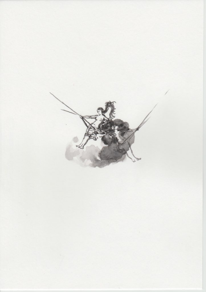 'Balançoires', 2019 Acrylic on paper 21x15cm
