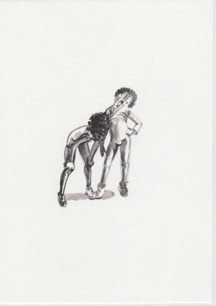 ELISABETH LLACH 'Les mistons', 2019 Acrylic on paper, 21x15cm