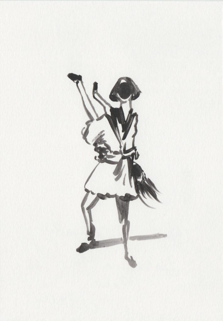 ELISABETH LLACH 'Balluchon 1', 2020 Acrylic on paper 21x15cm