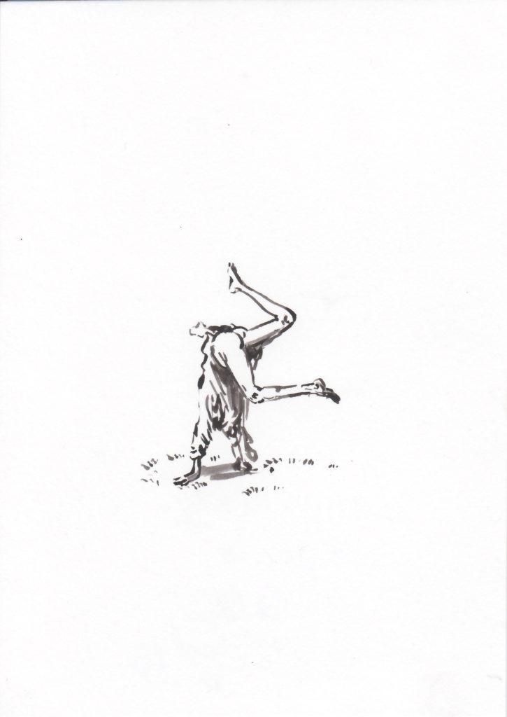 'Le poirier', 2018 Acrylic on paper 21x15cm